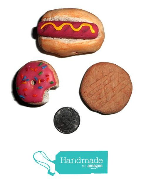 Set of Three Miniature Realistic Looking Fake Food Fridge Magnets Hot Dog Doughnut Cookie from Fake Food USA https://www.amazon.com/dp/B01GTZZCT8/ref=hnd_sw_r_pi_dp_RZywxbZSW6HB4 #handmadeatamazon