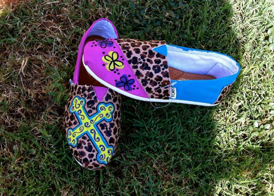Girly TOMS by Something2Braggabout on Etsy, $110.00