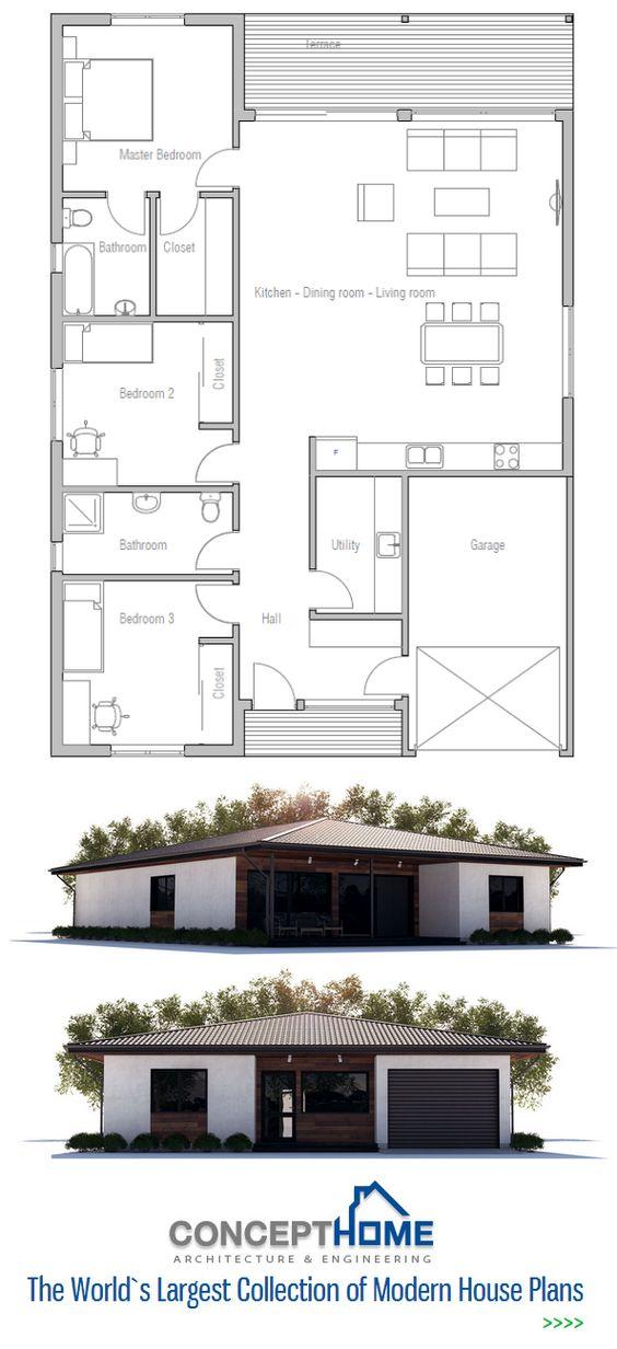 Very Practical 3 Bedroom Single Floor Modern Layout Just