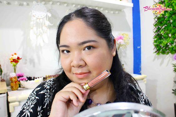 Lip Swatch Poppy Dharsono Liquefied Matte Lip Color 01 - Peach Echo