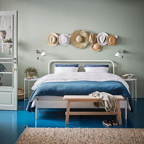 Nesttun Luroy Cift Kisilik Karyola Beyaz 140x200 Cm Ikea Yatak Odalari Bed Frame Bed Slats Ikea Bed
