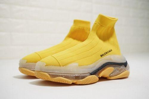 gold balenciaga sock shoes