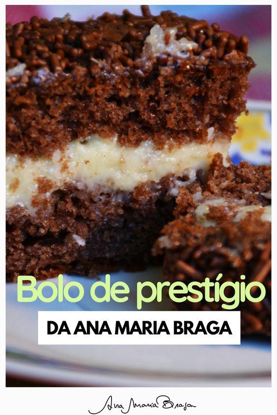 Bolo Prestigio De Chocolate E Coco Da Ana Maria Com Imagens