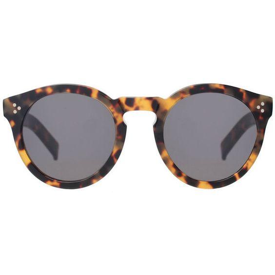 Illesteva Leonard II Tortoise Sunglasses (€255) ❤ liked on Polyvore featuring accessories, eyewear, sunglasses, glasses, brown, brown tortoise shell glasses, tortoise glasses, brown glasses, illesteva and tortoiseshell glasses