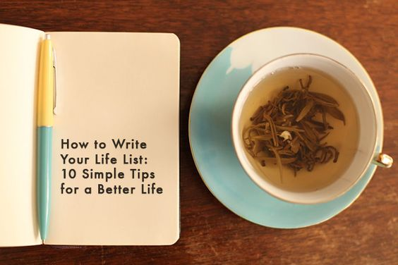 LOVE THIS.  How to Write Your Life List, 10 Tips for a Better Life | Mighty Girl