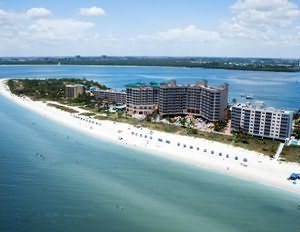 Fort Myers Beach, FL...the island is about 6 miles long and about 1 block wide