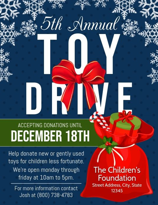Christmas Toy Drive Flyers Christmas Toy Drive Flyer Christmas Toy Drive Food Drive Flyer