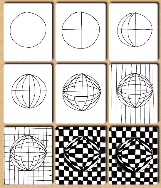 Easy Visual Arts: Wonderful Op Art Lessons With Step