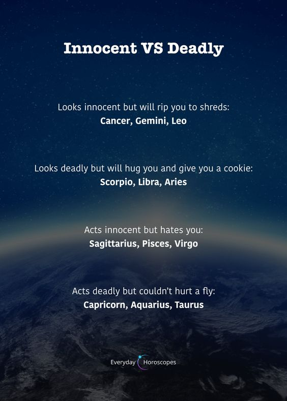 Are you innocent or deadly? #dailyhoroscope #todayhoroscope #horoscope #zodiacsigns