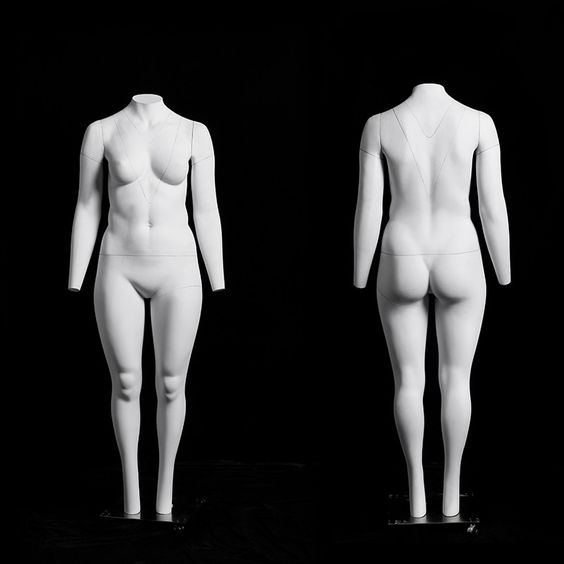 "Plus Size Female ""Ghost"" Mannequin with V-Neck available for sale at Mannequin Madness for your photography needs"