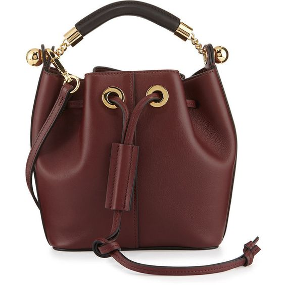 cloe purse - Chloe Gala Small Leather Bucket Bag (24,235 MXN) ? liked on ...