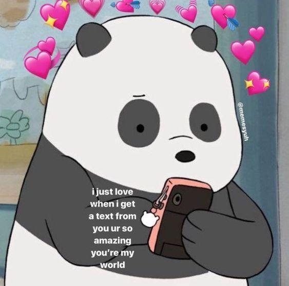 We Bare Bear Cute Love Memes Cute Memes Love Memes