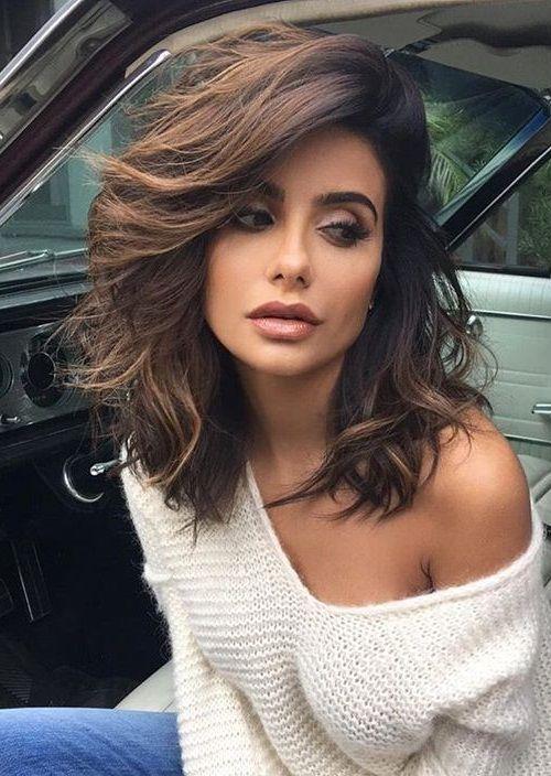 46 Stylish Medium Hairstyles For Womens 2018 Pics Bucket Hair Styles Long Hair Styles Thick Hair Styles