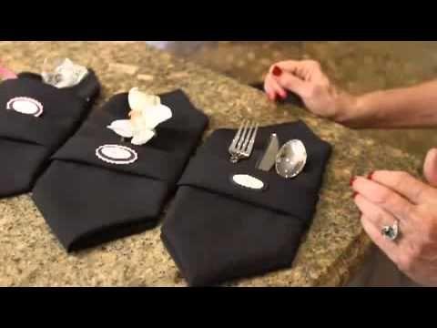 How To: Holiday napkin folding