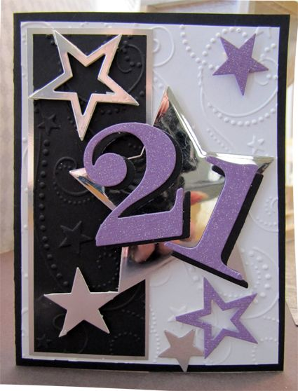 Use Mirror cardstock and glitter paper!