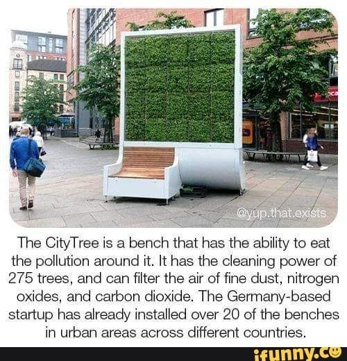 The Citytree Is A Bench That Has The Ability To Eat The Pollution