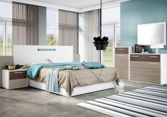 Dormitorio tranquilo azul