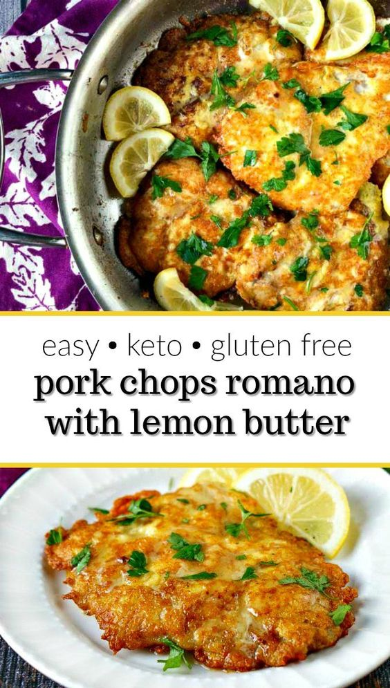 Low Carb Pork Chops Romano - Easy Low Carb Dinner!