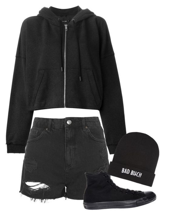 """""""#0053"""" by killerxbabe ❤ liked on Polyvore featuring rag & bone, Topshop, Converse, Kill Brand, women's clothing, women, female, woman, misses and juniors"""
