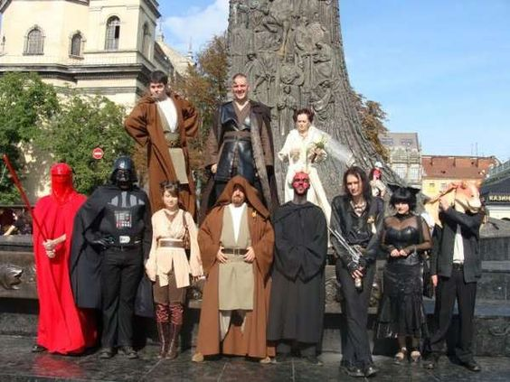 A Star Wars wedding would be memorable to say the least.