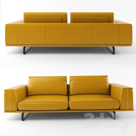 3d models: Sofa - Natuzzi Tempo 2834 sofa