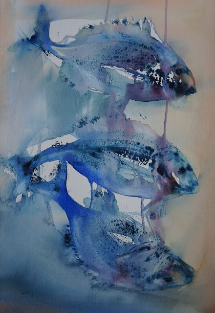 Atelier De La Petite Mer Aquarelles Art De Poissons