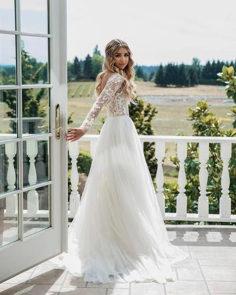 35 Cheap Wedding Dresses To Inspire Long Wedding Dresses Wedding Dress Long Sleeve Modest Wedding Dresses