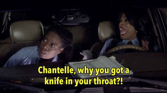 "When someone stabbed ""Chantelle"" and Niecy Nash had this reaction."