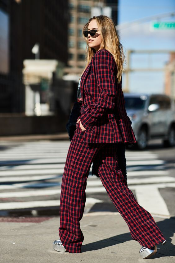 The Best Street Style Moments From New York Fashion WeekFall 2018 - Go Full Pattern from InStyle.com