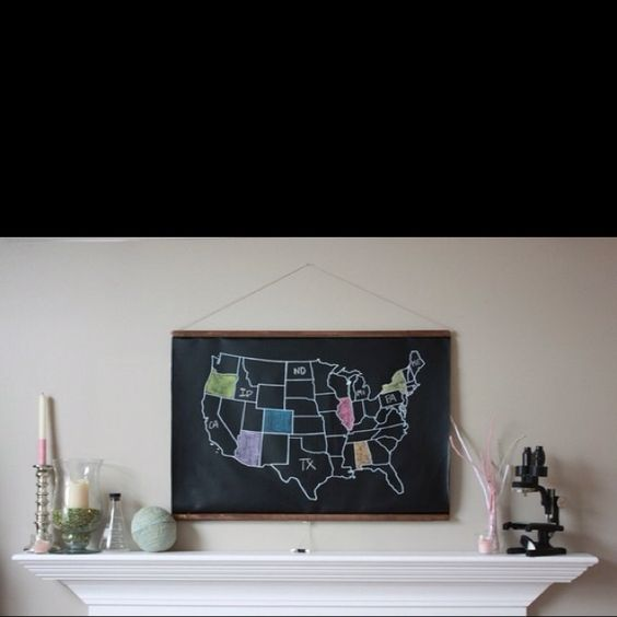Color in the states you've visited