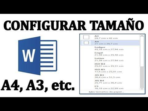 Cómo Configurar El Tamaño De Hoja A4 A5 A3 Carta Y El Tamaño Sobre Para Un Documento En Word Y Aprender Informatica Informatica Y Computacion Informática