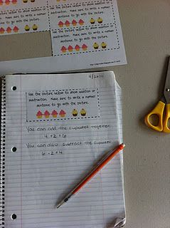 Great for a math center using math journals.