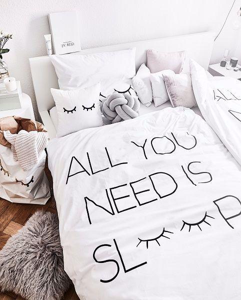 All You Need Is Sleep Die Trendige Perkal Bettwasche Sleepy Eyes
