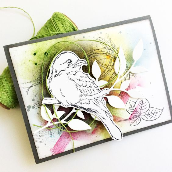 Card-Blanc by Kathy Martin: Pinspired