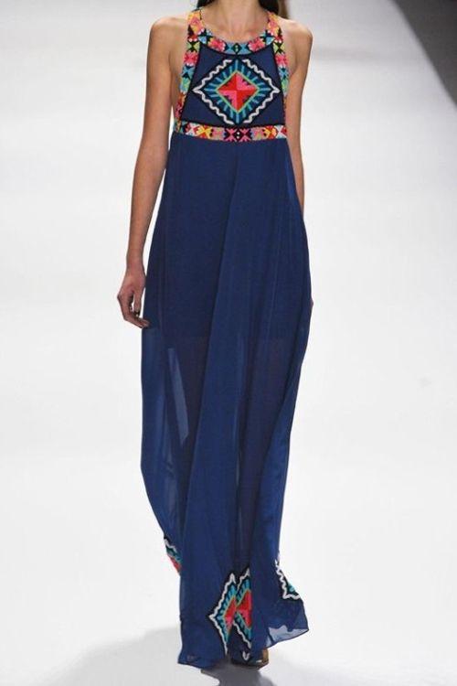 Floral Print Color Block Sleeveless Maxi Dress PURPLISH BLUE: Maxi Dresses | ZAFUL