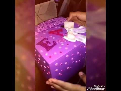 بوكس المفاجات Youtube Birthday Candles Birthday Gift Wrapping