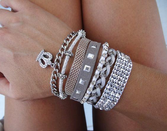 Silver Hipanema Style Bracelet, Brazilian, Boho Cuff by What2WearByNana on Etsy
