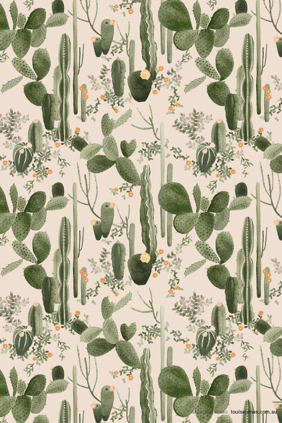 Idée Peinture Chambre Garçon : Cactus Pattern Tumblr