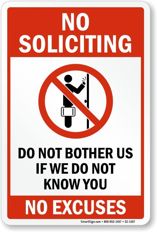no soliciting sign - Google zoeken