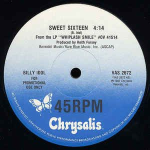 "Billy Idol - Sweet Sixteen: buy 12"", Promo at Discogs #BillyIdol #NewWave #1980s"