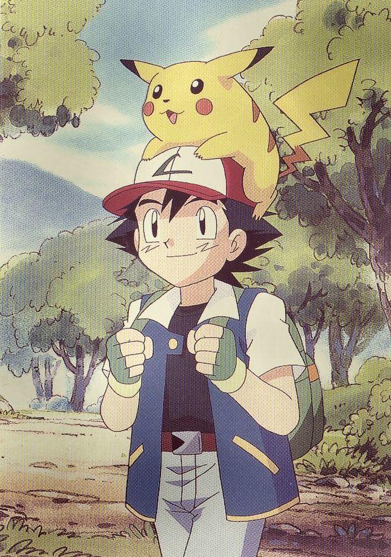 The old, Ash ketchum a... Original Pokemon Ash