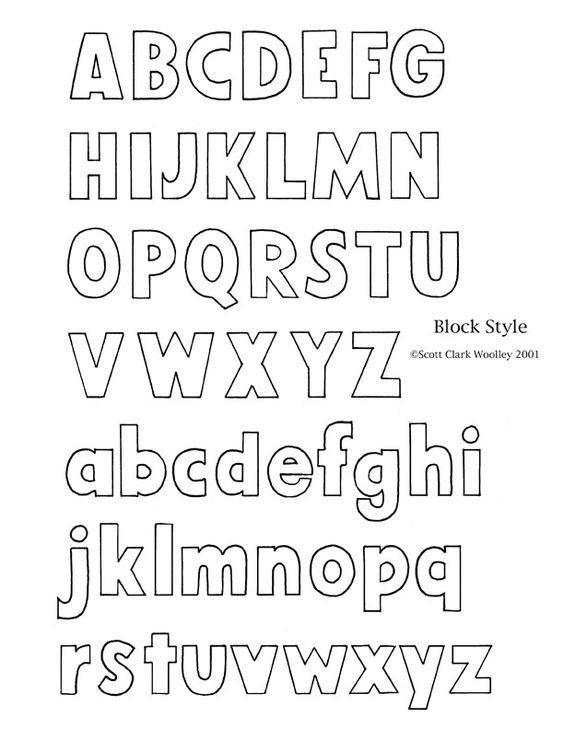 Alphabet Block Letters | To print, reduce first image to 8.5 inches in width. Lettering ..