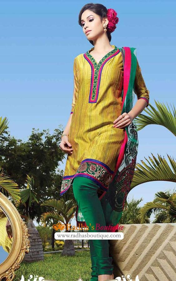 Cotton Churidar Salwar Suit (NAH9338)