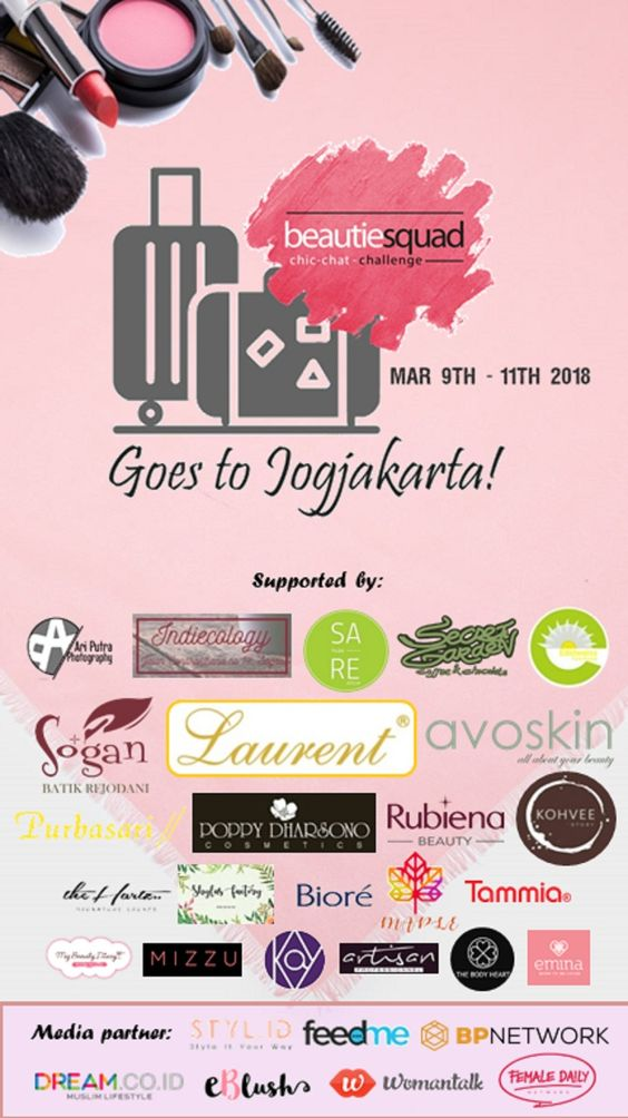 sponsors and media partner beautiesquad goes to jogja