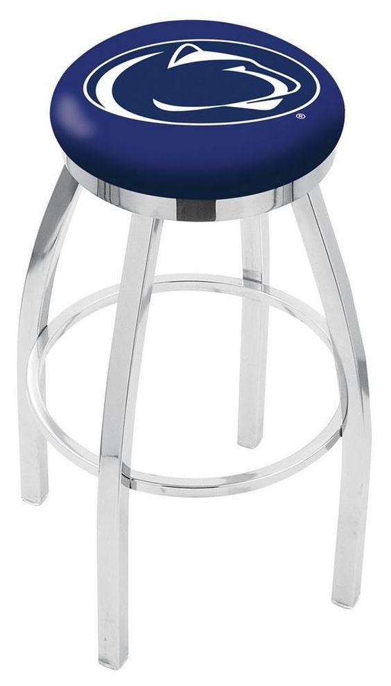 Penn State University Barstool Chrome Kitchen Chair