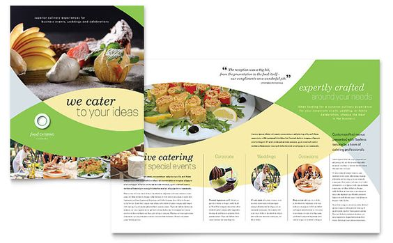Food Catering Brochure Design Template by StockLayouts Roberto - food brochure