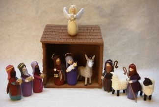Knitting Patterns Christmas Figures : Nativity, Nativity sets and Darts on Pinterest