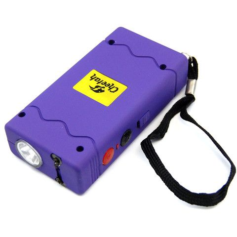 Defender Force 10 Million Volt Stun Gun Rechargeable LED light Self Defense - Purple