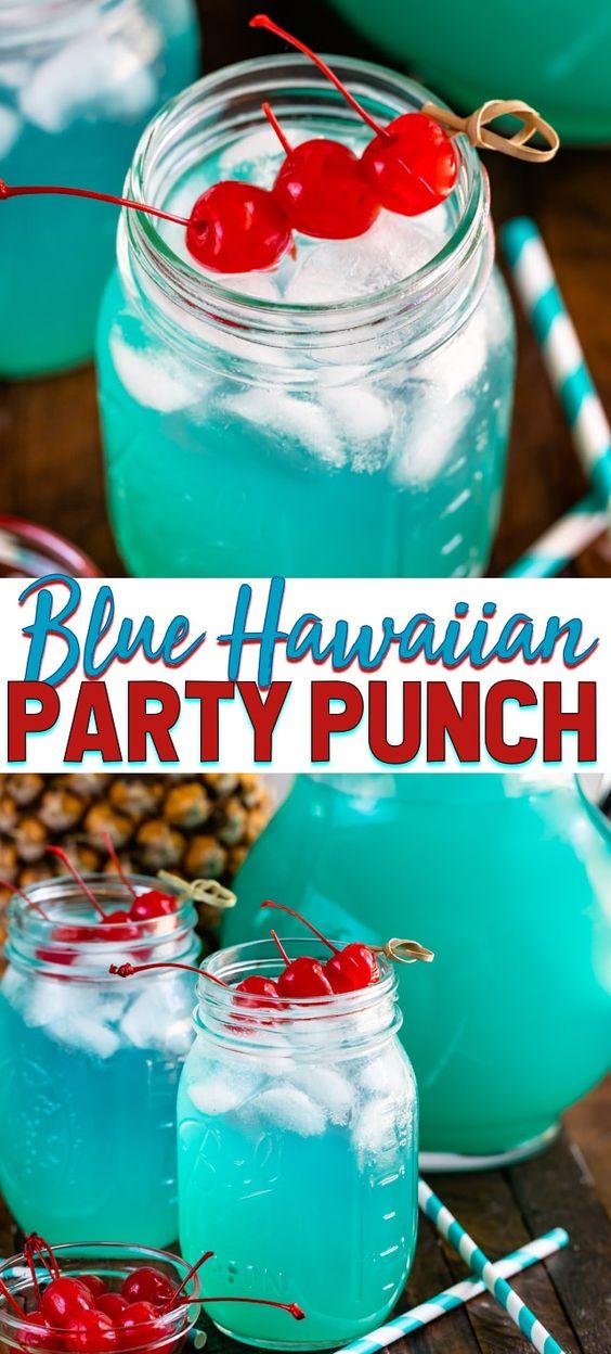 Blue Hawaiian Party Punch