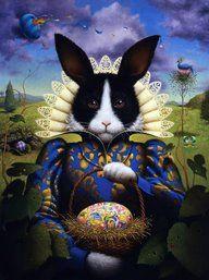 Easter Bunny Princess: Bunny Art, Falkenstern Bunny, Rabbits Bunnies, Easter Bunny, Bunny Queen, Art Bunnies, Lisa Falkenstern